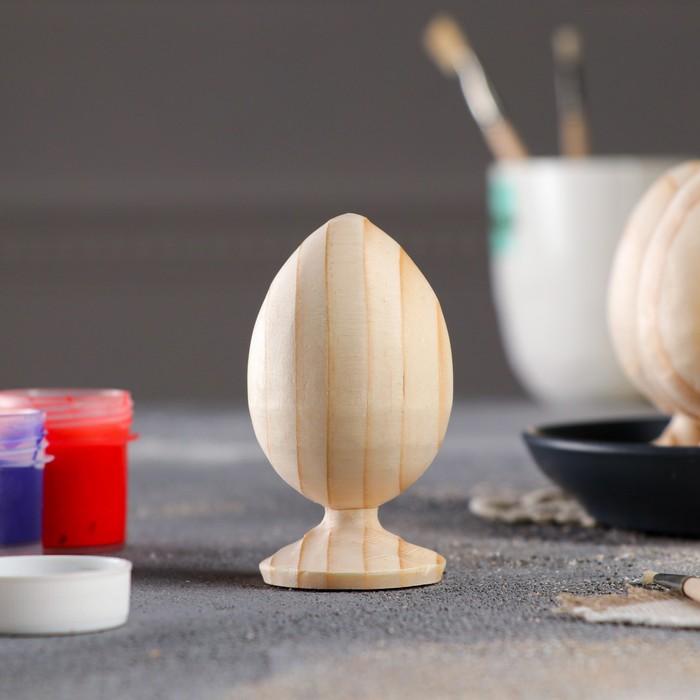 Яйцо пасхальное, деревянное, на подставке, декупаж, 9-8,5 х 5-4,5 см