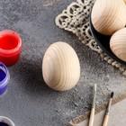 Яйцо пасхальное, деревянное, декупаж, 7-6 х 5-4,5 см