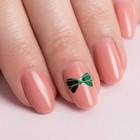 Наклейки для ногтей, цвет зелёно-золотой