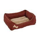 Лежак Petmate для кошек и собак, с мягкими бортиками, прямоугольный, 53х63 см