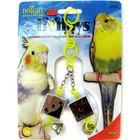 Игрушка для птиц J.W. - Кубики зеркальные с колокольчиками, пластик, микс