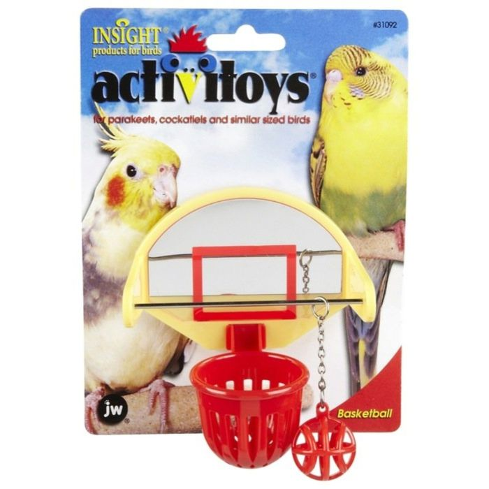 Игрушка для птиц J.W. - Птичий баскетбол, пластик, микс
