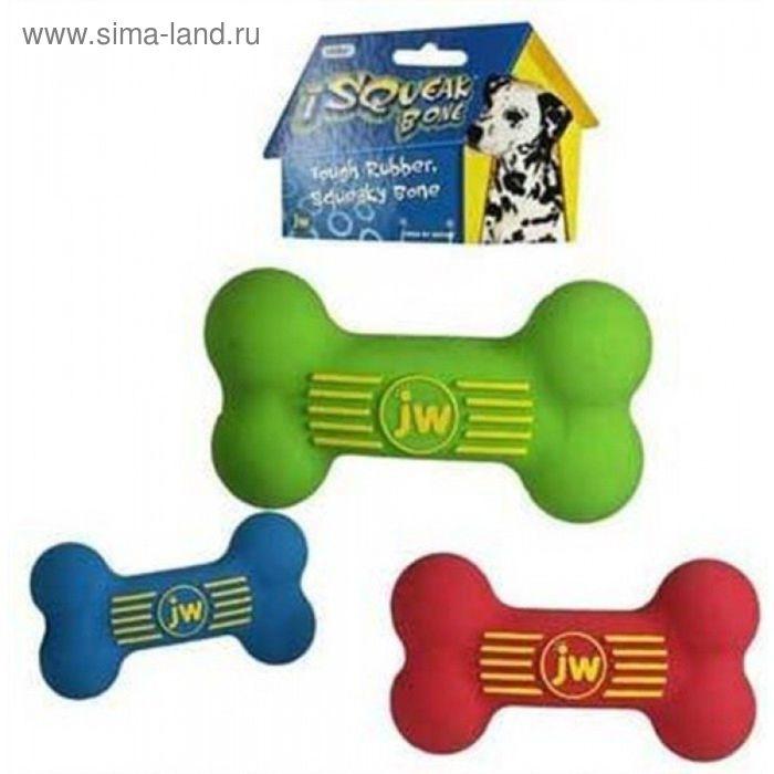 Игрушка для собак J.W. - Косточка с пищалкой, каучук, маленькая, микс