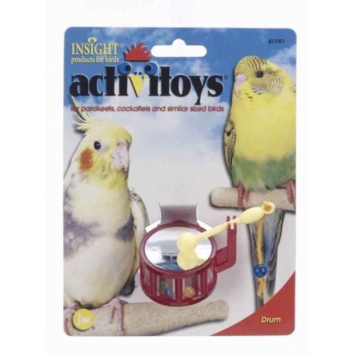 Игрушка для птиц J.W. - Барабан, пластик, микс