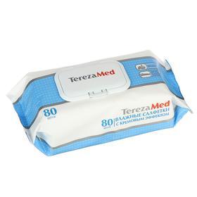 Влажные салфетки с кремовым эффектом TerezaMed, 80 шт.