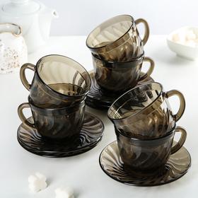 Сервиз чайный Ocean Eclipse, 12 предметов: 6 чашек 220 мл, 6 блюдец