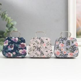 Шкатулка металл сумочка 'Цветочная' МИКС 5,5х7х3 см Ош