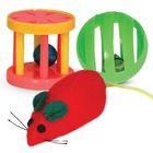 Набор Triol Мяч, мышь, барабан, 3.5-8.5см