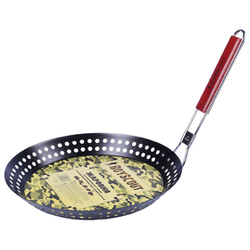 Жаровня для морепродуктов и овощей с антипригарным покрытием, складная ручка, 53 х 30 х 3 см, цвета микс