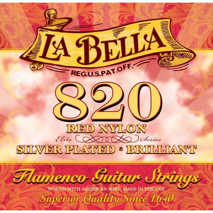 Cтруны для классической гитары La Bella 820 Flamenco Red