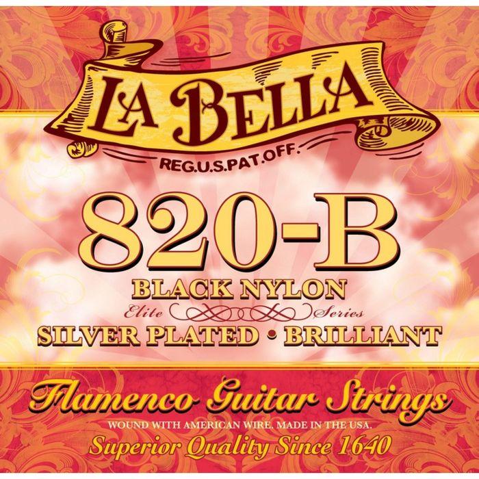 Cтруны для классической гитары La Bella 820B Flamenco Black
