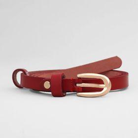 Ремень, пряжка золото, ширина - 1,5 см, цвет бордовый Ош