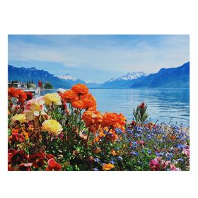 "Картина на холсте ""Цветочный берег"" 30х40 см"