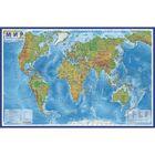 Интерактивная карта Мира физическая, 120 х 78 см, 1:25 млн, без ламинации