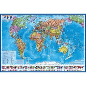 Интерактивная карта мира политическая, 101х66 см, 1:32 М