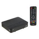 """Приставка для цифрового ТВ """"Эфир"""" Т34, FullHD, DVB-T2, дисплей, HDMI, RCA, USB, черная"""