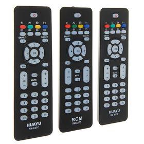 Пульт ДУ Huayu RM-627С, для ТВ Philips, универсальный, черный Ош