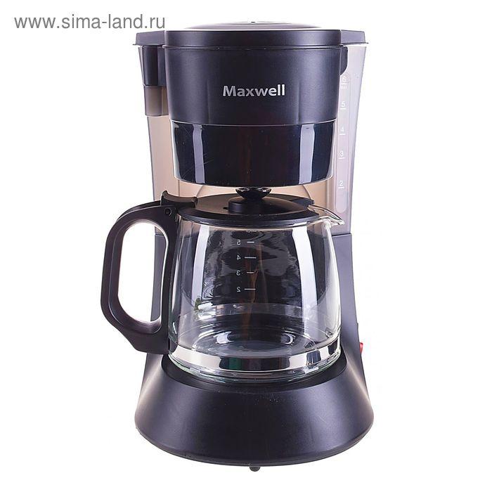 Кофеварка Maxwell MW-1650, капельная, 600 Вт, 0.6 л, чёрная