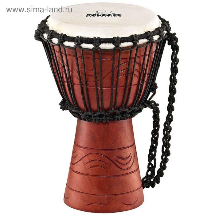 Джембе MEINL NINO-ADJ2-XS африканский детский Mahogany Wood, мембрана натуральная, веревки