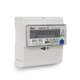 Счетчик НЕВА МТ 124 AS E4P, 1ф, 5-60 А, многотарифный, GMT +5, ЕКБ Ош