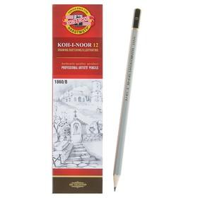 Карандаш чернографитный Koh-I-Noor 1860 B Gold Star, профессиональный