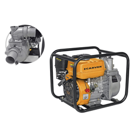 Мотопомпа Carver CGP 3050, 4Т, 5.2 кВт/7 л.с., для чистой воды, 500 л/мин, глубина 7 м Ош