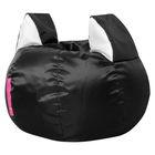 Кресло-мешок Ушастик-Кот d50/h45 цв черный/белый нейлон 100% п/э