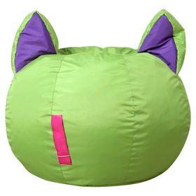Кресло-мешок Ушастик-Кот d50/h45 цв зеленый/фиолетовый нейлон 100% п/э Ош