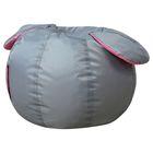 Кресло-мешок Ушастик-Мышка d50/h33 цв серый/розовый нейлон 100% п/э