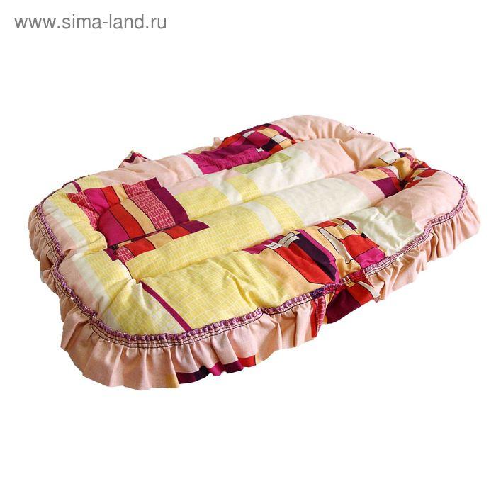 Лежак овальный эконом DOGMAN №2, МИКС