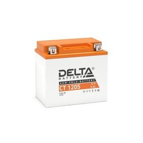 Аккумуляторная батарея Delta СТ1205 (YTX5L-BS, YT5L-BS, YTZ7S)12V, 5 Ач обратная(- +) Ош