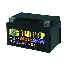 Аккумуляторная батарея TYUMEN BATTERY 7 Ач 6МТС-7 AGM (YTX7A-BS), прямая полярность Ош