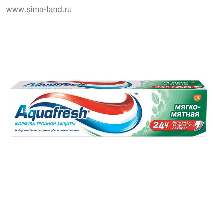 Зубная паста Aquafresh «Мятная», 50 мл