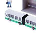 Набор «металлический Автобус», 12 см, с остановкой и аксессуарами - Фото 4