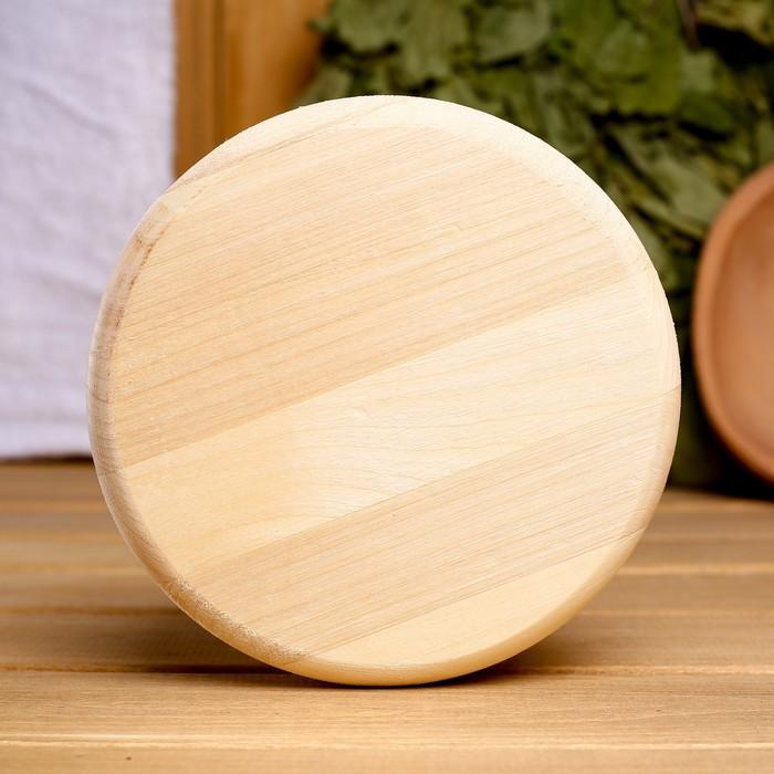 Вентиляционный клапан из липы, D=10см, основание дерево