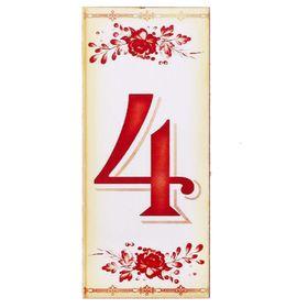 Цифра дверная из дерева '4', букет, 3*7 см Ош