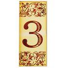 """Цифра дверная из дерева """"3"""", под выжигание, 3*7 см"""