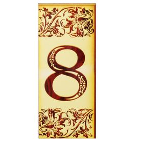Цифра дверная из дерева '8', под выжигание, 3*7 см Ош