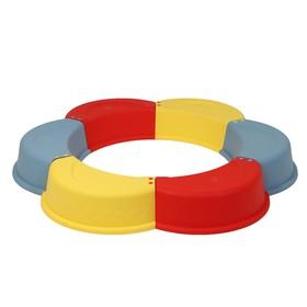 Песочница пластиковая «Ромашка», 147 × 147 × 18 см, цвет МИКС Ош