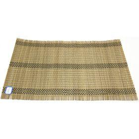 Подставка под горячие, бамбук, цвет серо-коричневый, 30 х 45 см