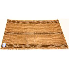 Подставка под горячие, бамбук, цвет оранжевый, 30 х 45 см