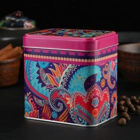 Банка для сыпучих продуктов «Турецкие огурцы», 600 мл, прямоугольная, цвет МИКС