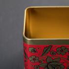 Банка для сыпучих продуктов «Русский узор. Цветы», 400 мл, прямоугольная - Фото 3