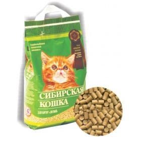 Наполнитель древесный Сибирская кошка 'Лесной' для котят, 5л Ош