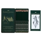 Карандаши художественные чернографитные набор Faber-Castel CASTELL 9000 12 штук разной твёрдости 4B-6H