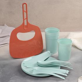 Мини-набор для пикника и барбекю на 4 персоны + подарок Ош