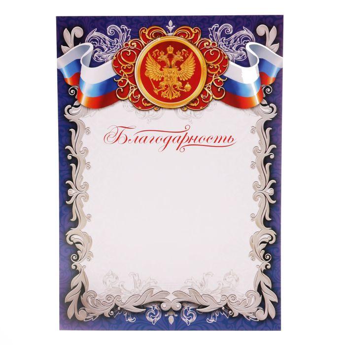 """Благодарность """"Российская символика"""""""