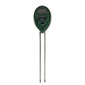 Прибор для измерения влажности LuazON, pH кислотности, освещенности почвы, зеленый Ош