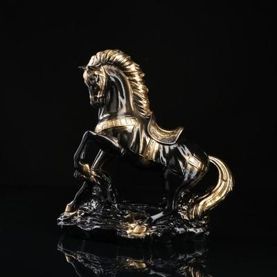 """Сувенир """"Конь на дыбах"""" 37 см, чёрный"""