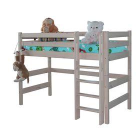 Полувысокая кровать Соня с прямой лестницей Вариант 5 Ош